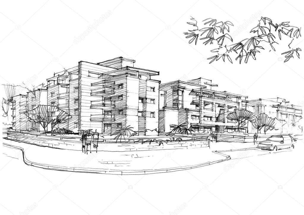 urban area in a residential area