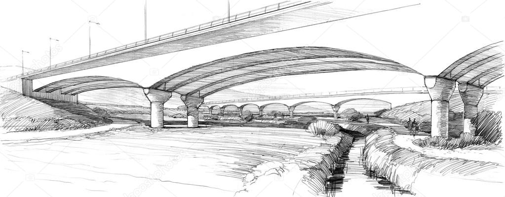 arched bridges over the brook