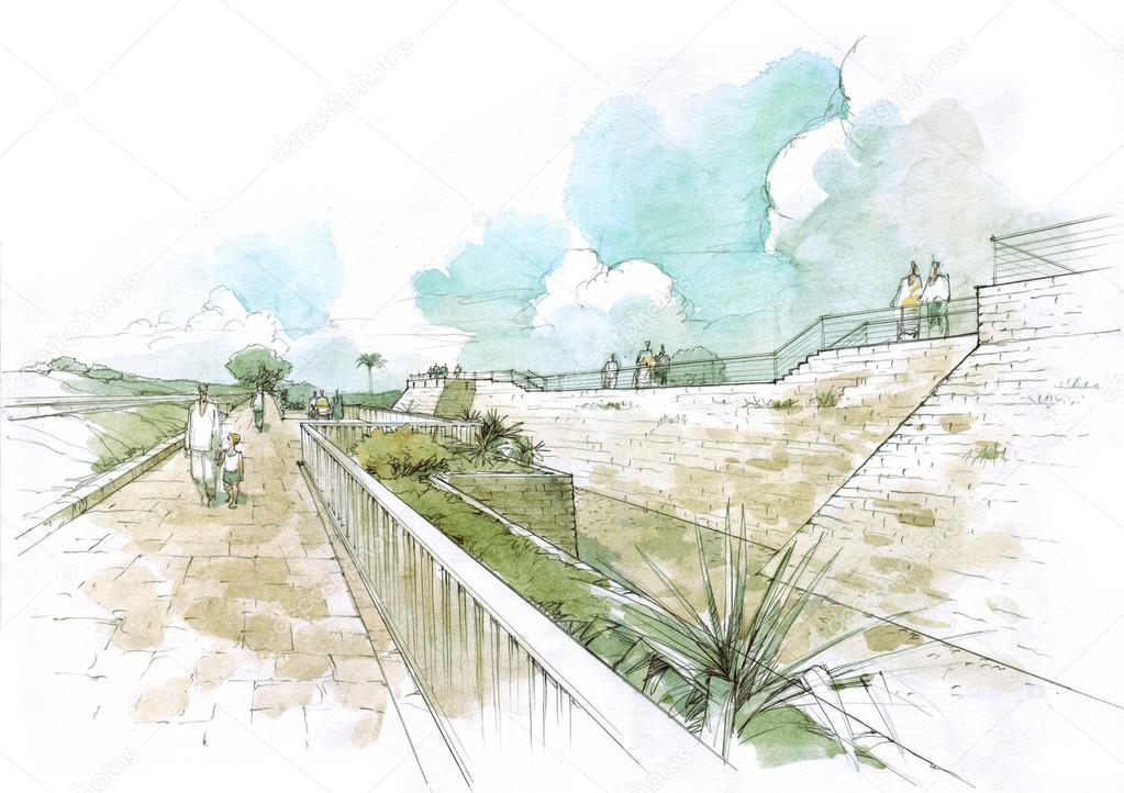 fortification in caesarea park