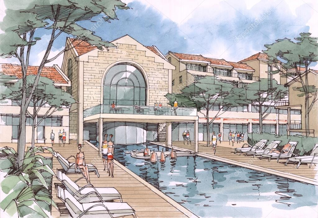 Drawings: swimming pool architectural | Swimming pool ...