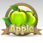 Fotografia etichetta verde mela