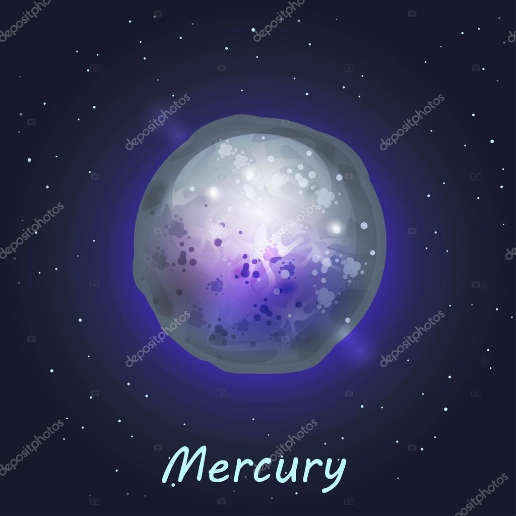 Merkür Gezegeni Stok Vektör Uropek8 61911095