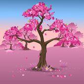 Fotografie Japanese pink plum blossom