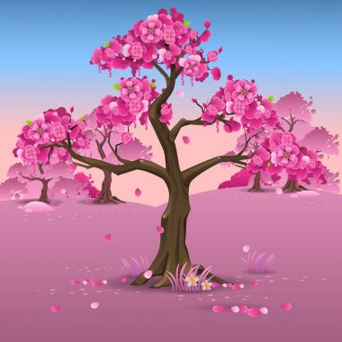 Japanese pink plum blossom