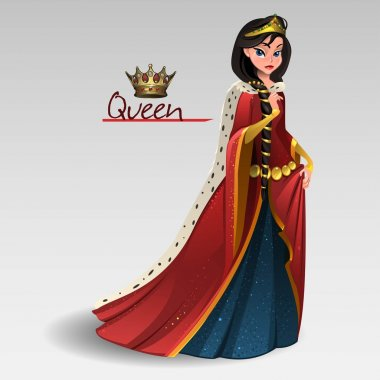 Queen in red