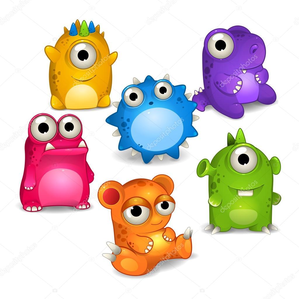 Jeu de couleurs dessin anim monstres image vectorielle uropek8 99778632 - Dessins de monstres ...