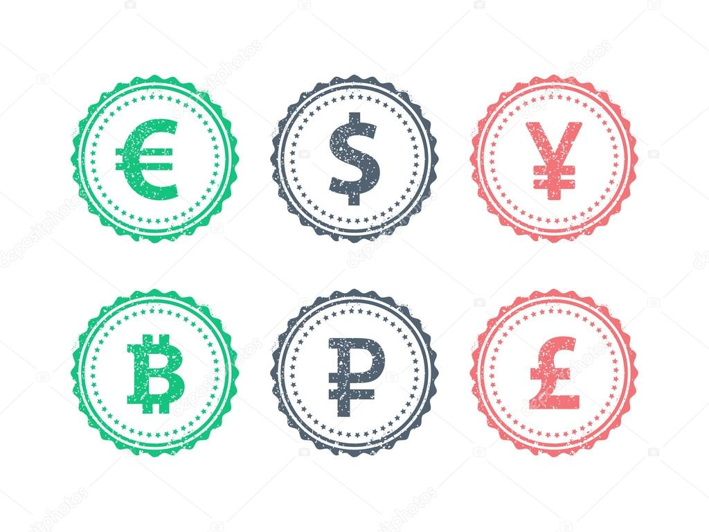 Euro dollar yen yuan bitcoin rubel pound mainstream currencies euro dollar yen yuan bitcoin rubel pound mainstream currencies symbols on grunge vintage hipster style stamp biocorpaavc Gallery