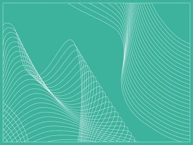 Curvy geometric lines wave pattern texture on colorful background. Vector graphic illustration template.