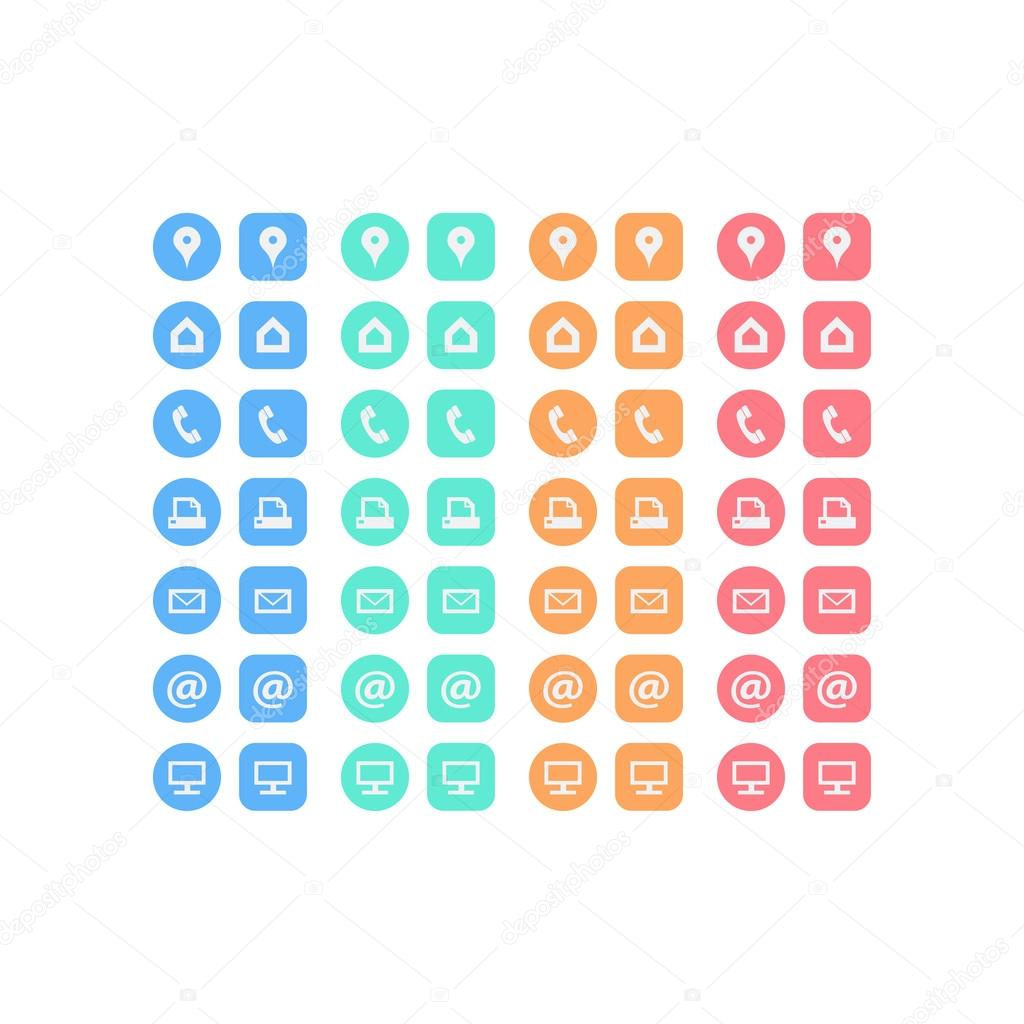 Business card icon set — Stock Vector © iterum #67301429