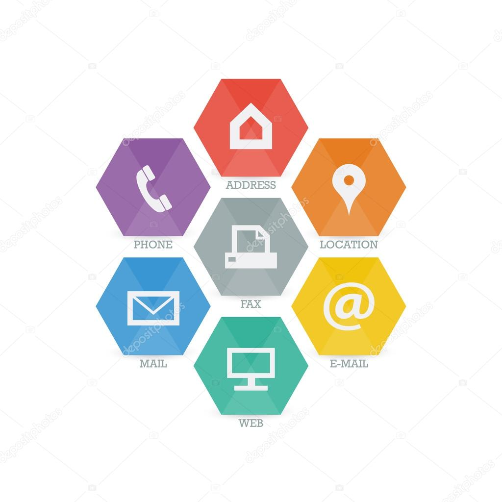 Geometric Web Icons For Business Stock Vector Iterum 67411909