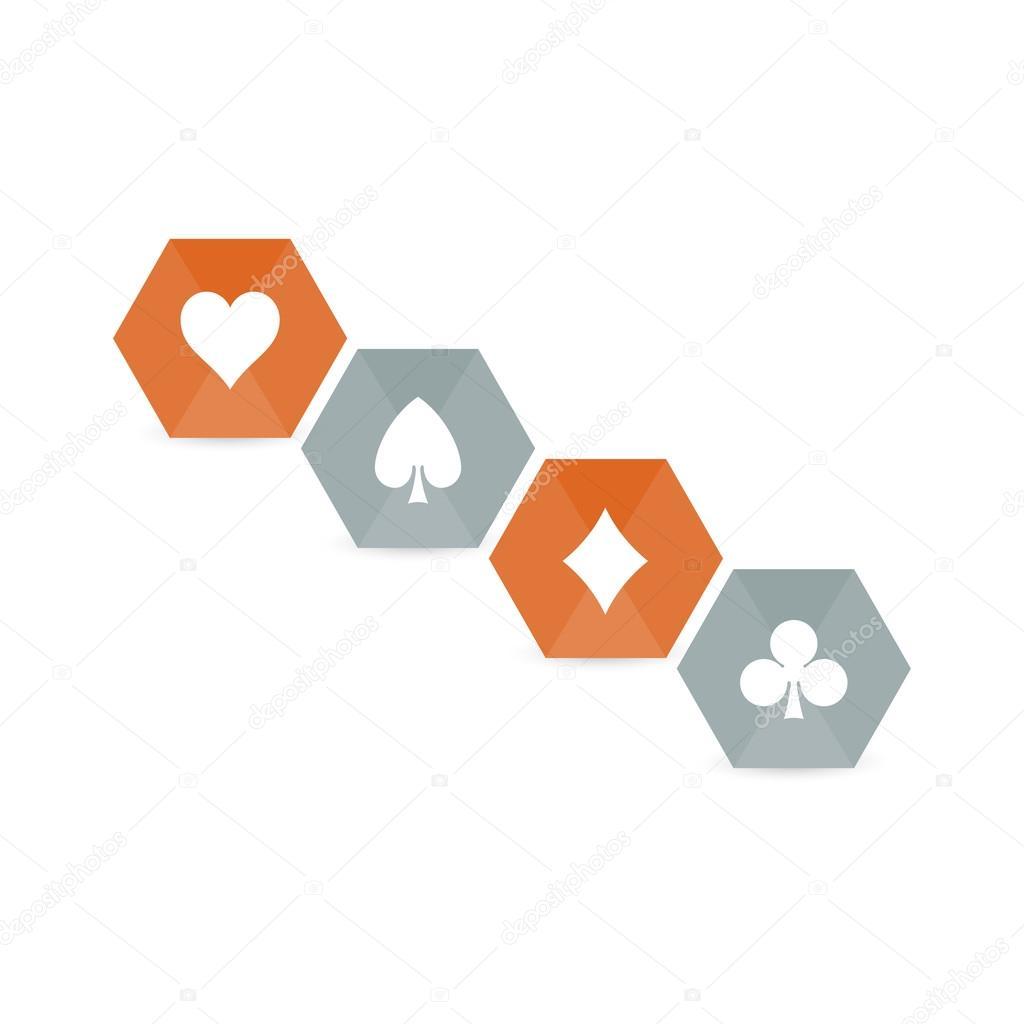 Playing Cards Symbols Stock Vector Iterum 67418879
