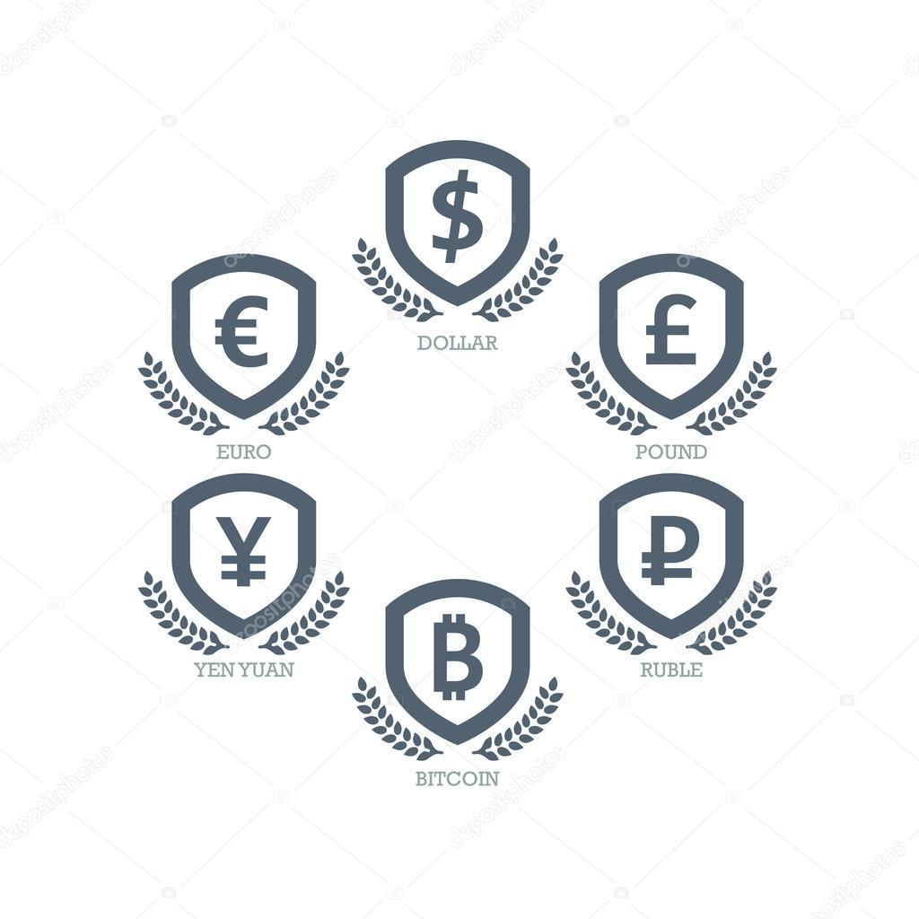 Euro Dollar Yen Yuan Bitcoin Ruble Pound Mainstream Currencies