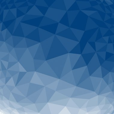Blue abstract geometric rumpled triangular low poly style background