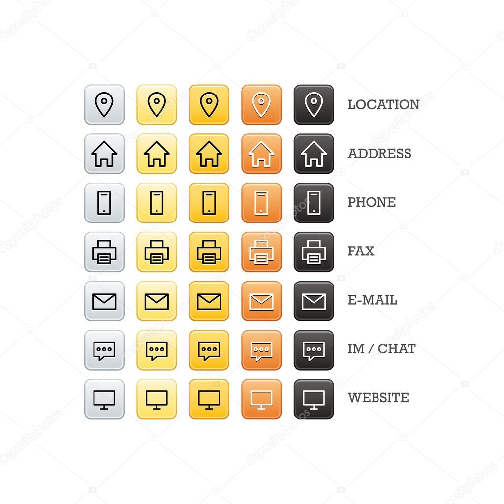 Multipurpose business card set of web icons for business finance multipurpose business card set of web icons for business finance and communication stock vector reheart Choice Image