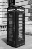 Fotografie Tradiční telefonní budka v Londýně, černobílé fotografie