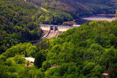 Photo The reservoir and hydraulic power plant Dalesice in the Czech republic