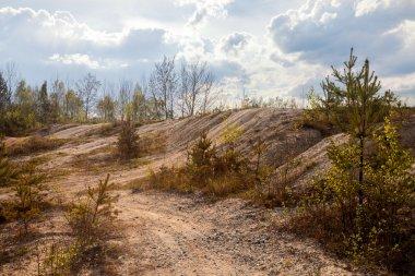 Abandoned mine - damaged landscape after mining