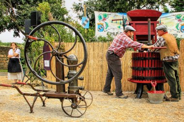 Traditional Wine Pressing