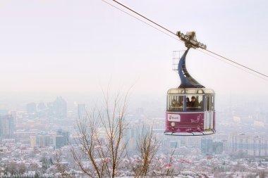 Kok-tobe mount in Almaty, Kazakhstan