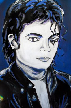Michael Jackson graffiti  portrait