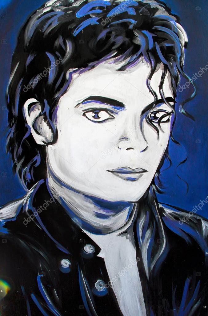 Michael Jackson graffiti  portrait