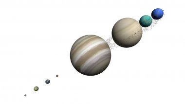 planets of the solar system, solar system, planets of the solar system sizes, comparison of the sizes of planets 3d render