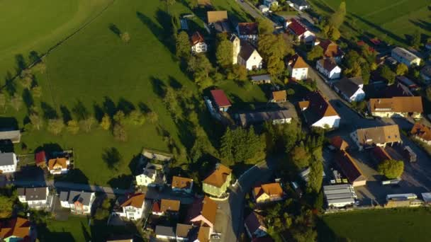 Aerial view of the village Hausen vor Wald in Germany.