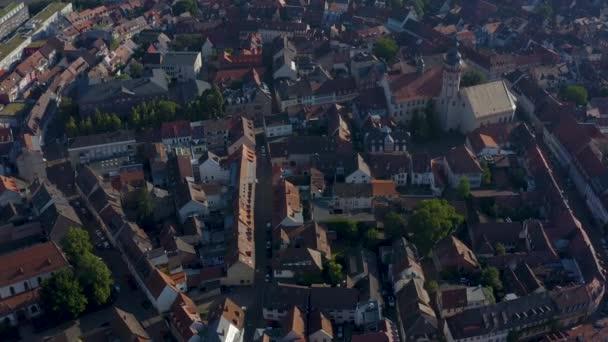 Letecký Durlach ze staré historické části města v Německu.