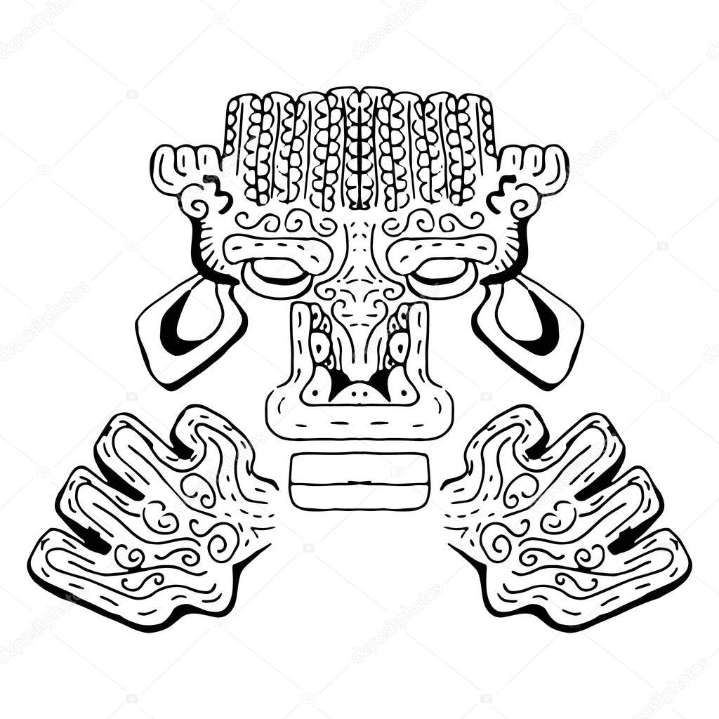 Imágenes Dioses Griegos Y Aztecas Ornamento De Los Antiguos Incas