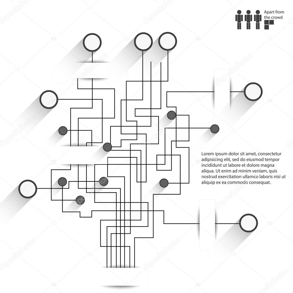 Vector Circuit Board Background Infographic Style Computer Network Graphic Industrial Black Information Graphics In The Original By Axe85