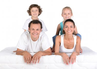 Family on the mattress