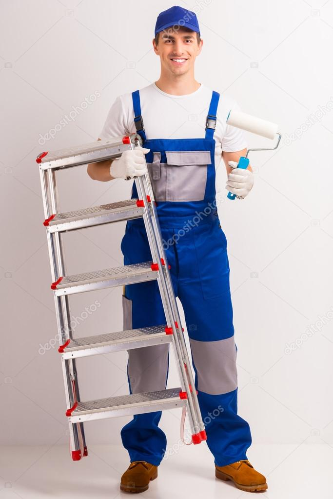 Male repairs indoors