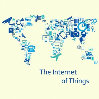 The internet of things. Vector illustration. Modern infographic template