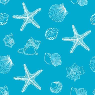 Sealife seamless pattern