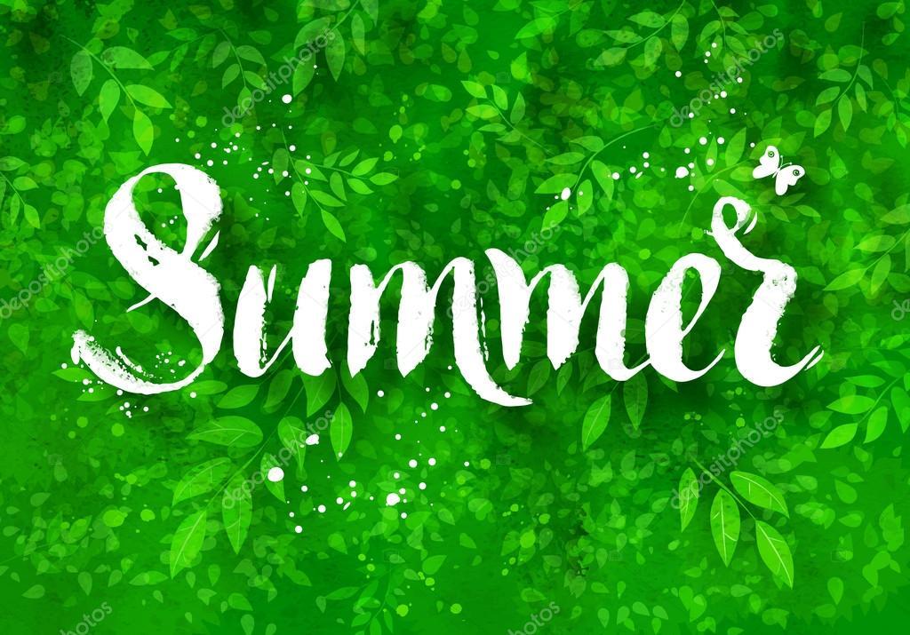 Summer brush lettering