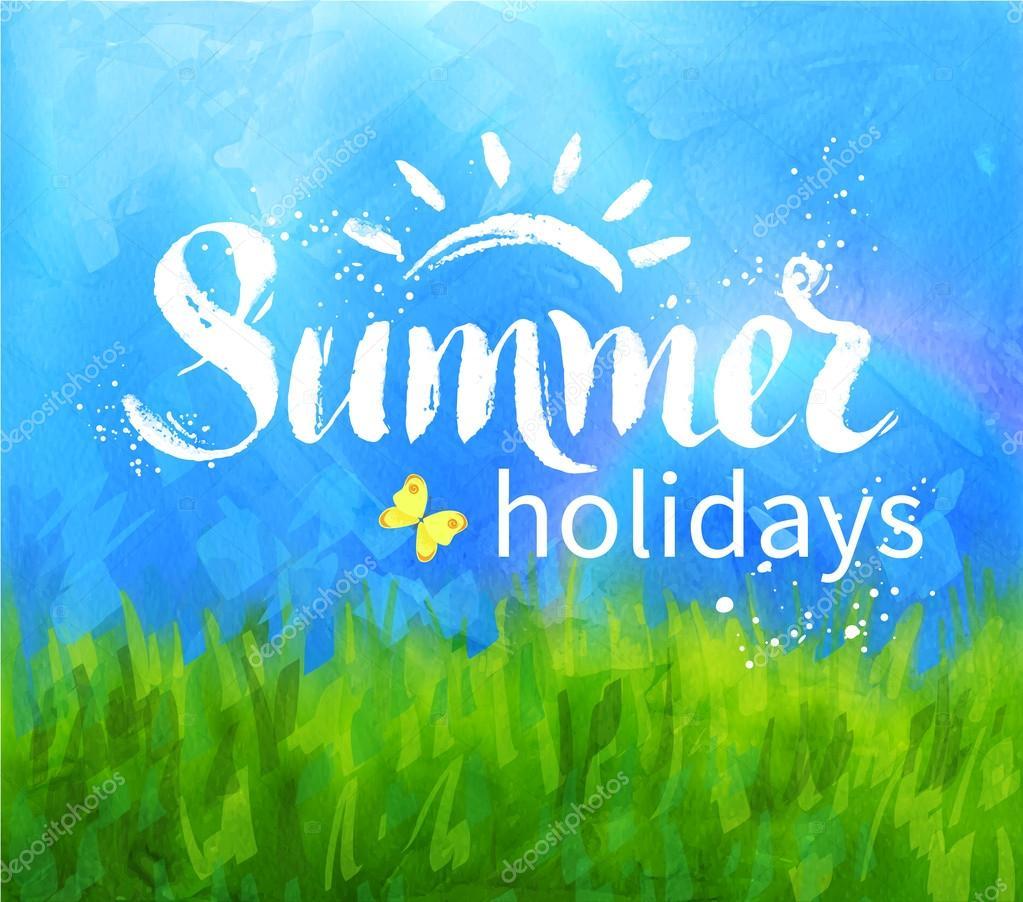 Summer holidays lettering