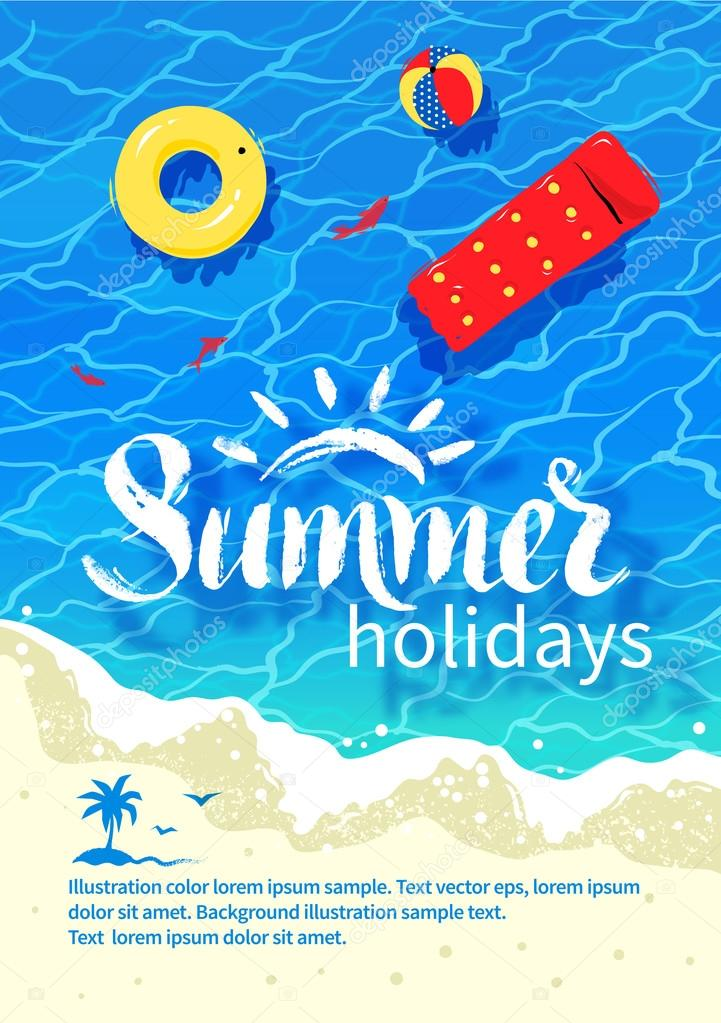 Summertime vacation flyer design