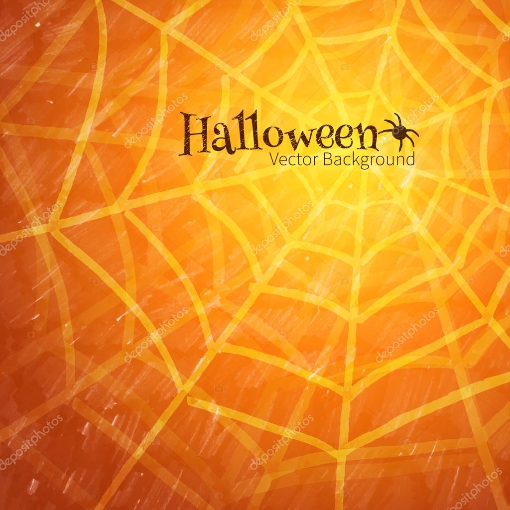 Halloween background with spider web