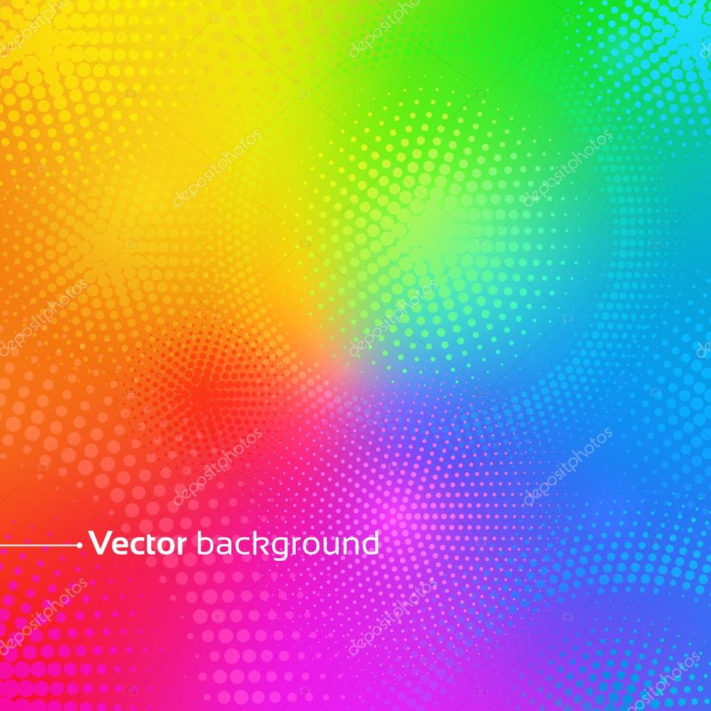 Rainbow background with dots.
