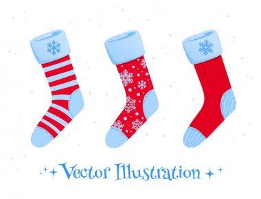 Set of Christmas socks.