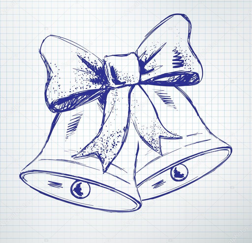 Рисунок колокольчика на открытку