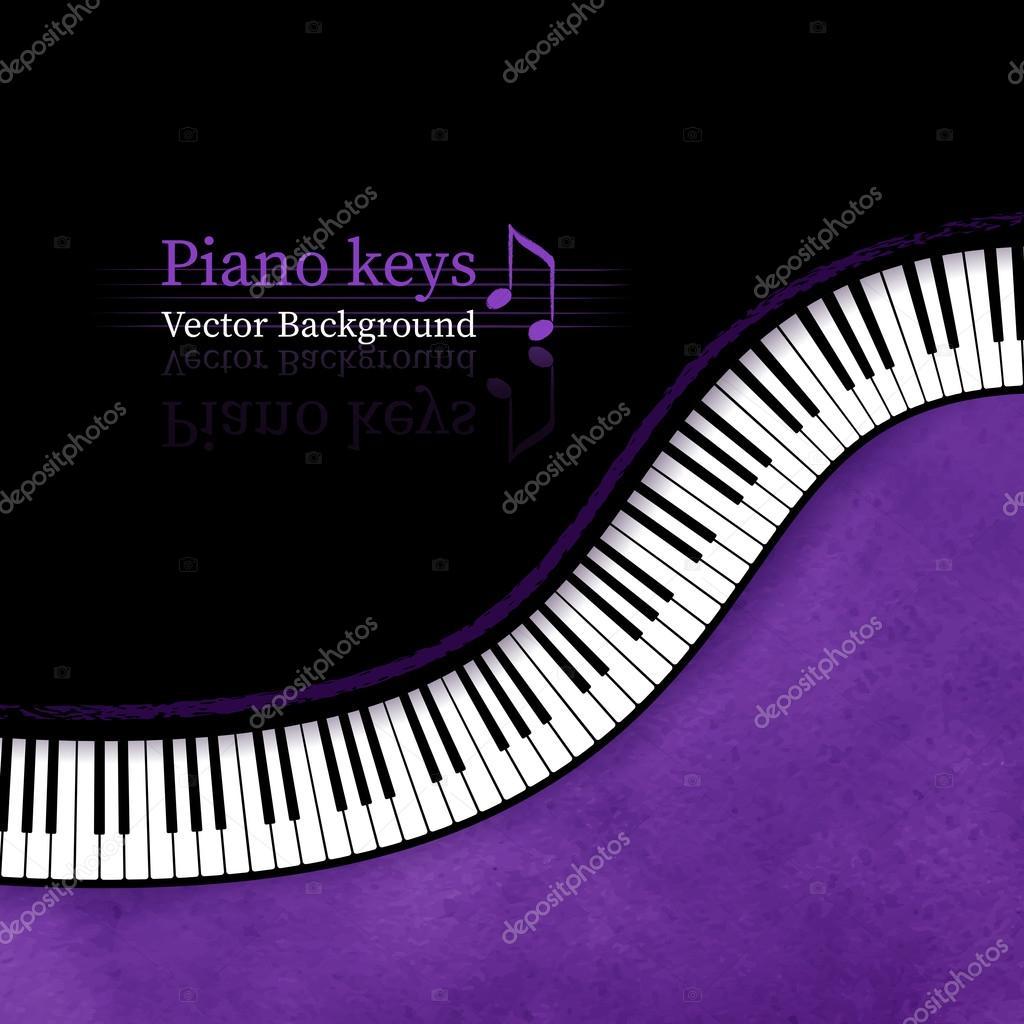 Piano keys vector background.