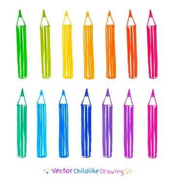 Colorful set of pencils