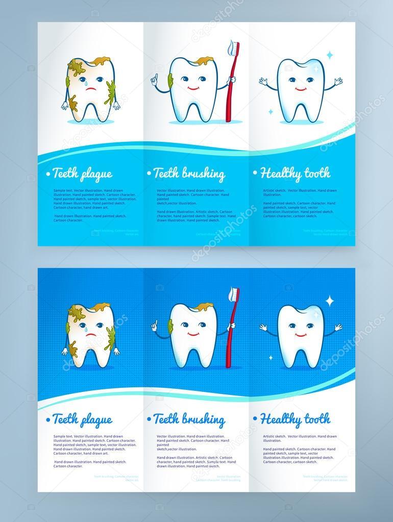 Dental care leaflet design