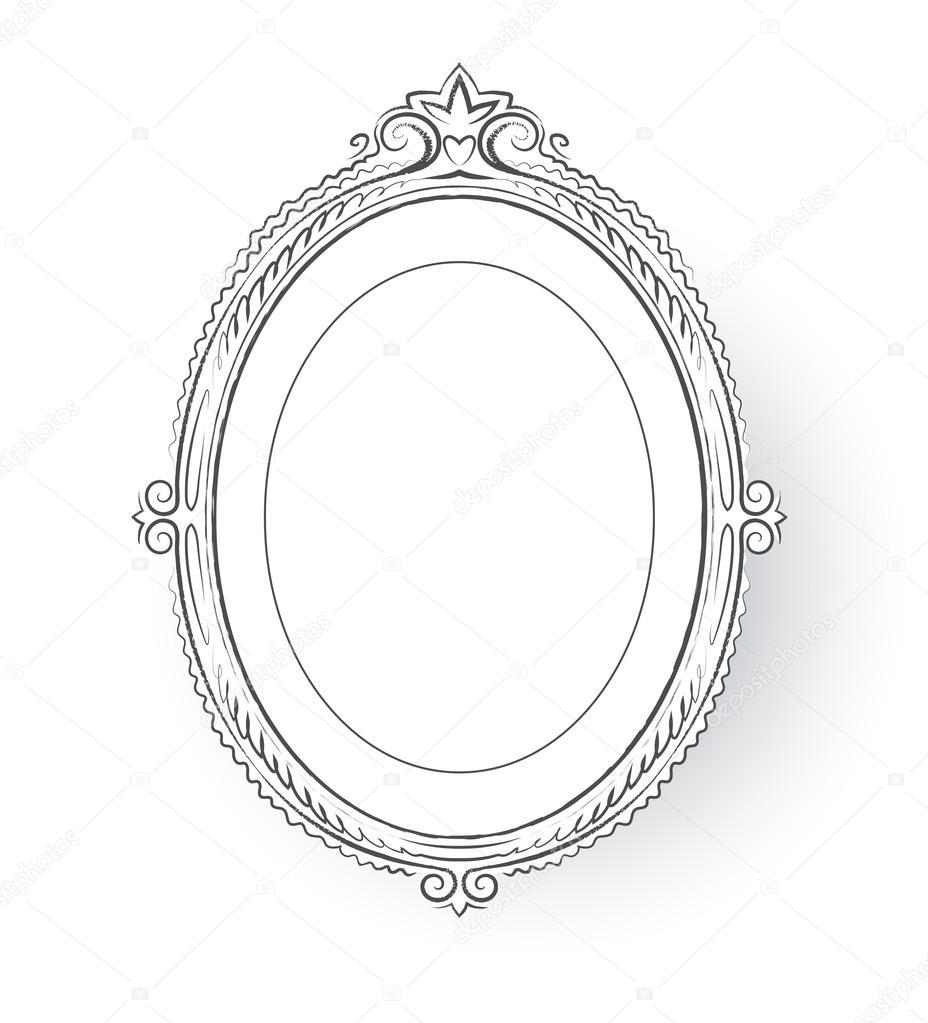 Vintage baroque frame. — Stock Vector © Sonya_illustration #64581661