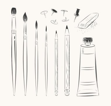 Set of art tools