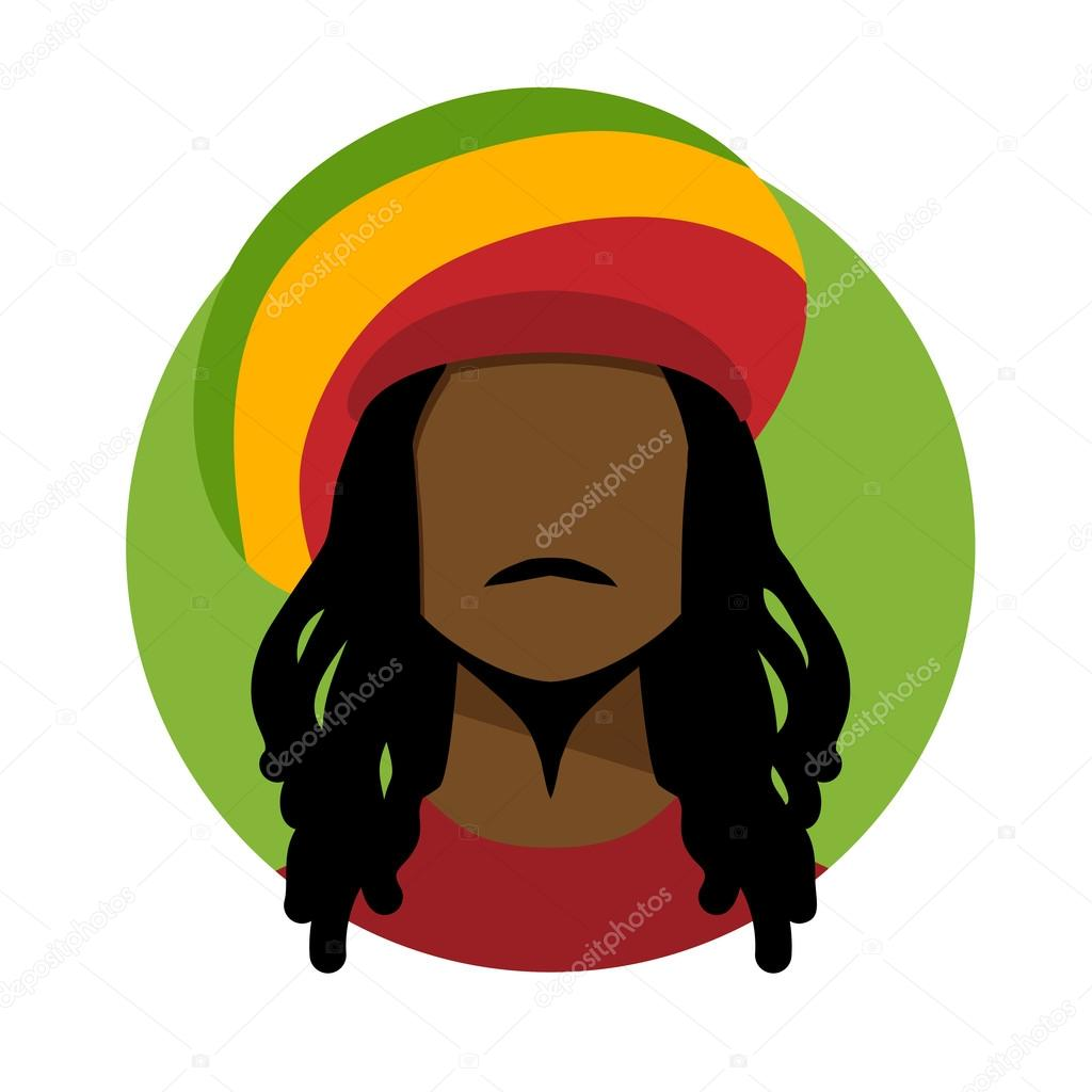 Rastafarian 2: Rastafarian Man With Long Hair