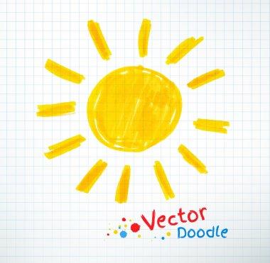 Childlike drawing of sun