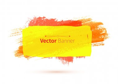 Colorful watercolor banner