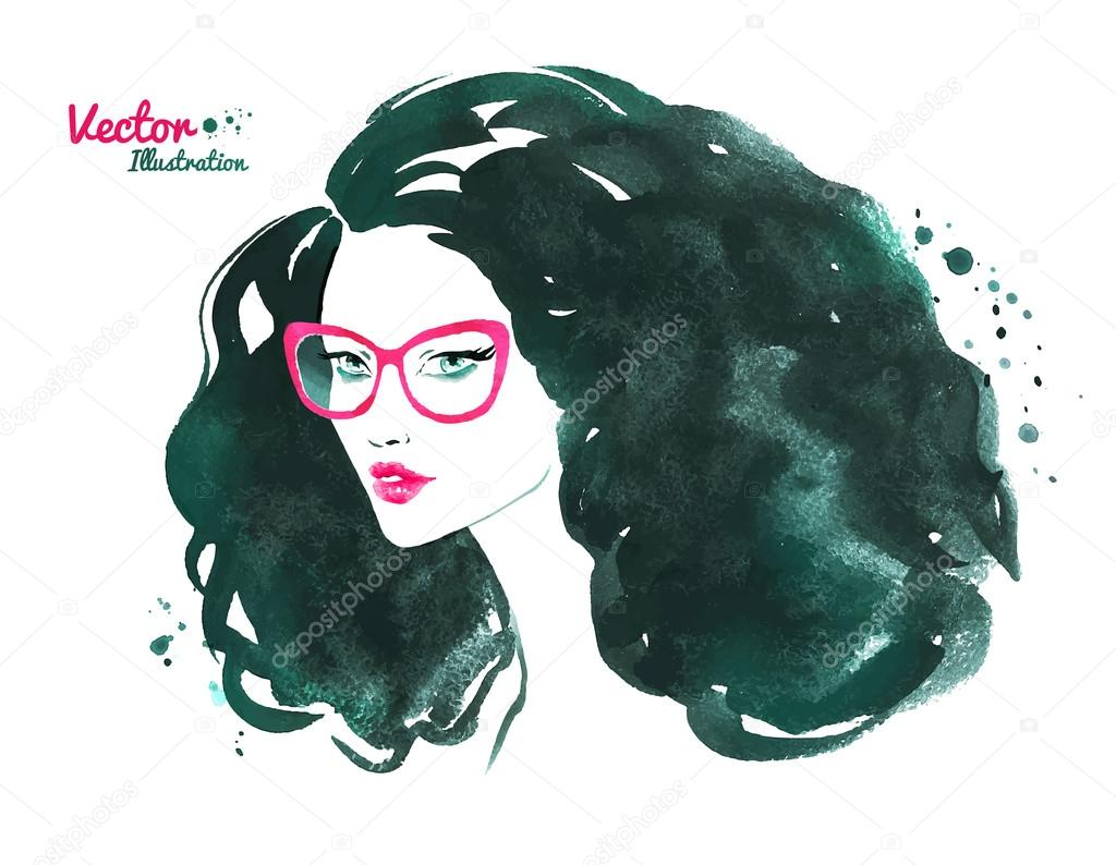 Woman wearing glasses